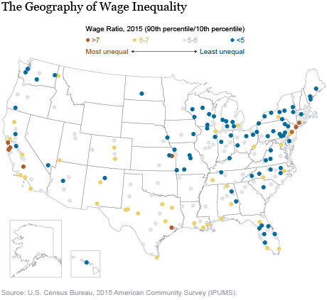 Some Places Are Much More Unequal than Others