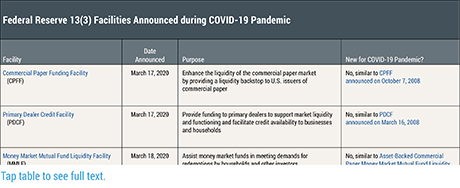 The COVID-19 Pandemic and the Fed's Response